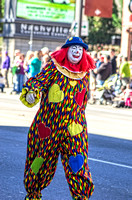 Shriner Clown In Colorful Outfit At Veterans Day Parade Nashville TN