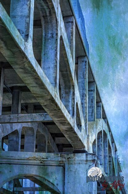 Side View Of Shelby Street Pedestrian Bridge Nashville TN