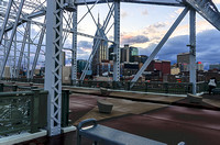 Looking Upon Nashville Across The Pedestrian Bridge