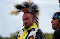 A tired look on Native American dancer Mt Juliet Powwow
