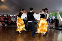 Folk Dancers In A Circle Greek Festival
