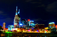 Colorful Lights Of Music City Nashville TN