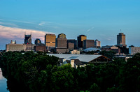 View from Jefferson Street Bridge of Music City