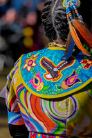 Colorful dress of female native dancer