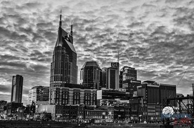 Nashville Night Sky Black and White