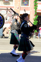 Two Metro Police Bagpipers At Veterans Day Parade Nashville TN