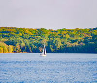Vast waters of Percy Priest Lake sailing away
