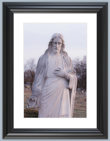 Jesus with shell framed