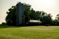 Silo and barn in Southern Kentucky