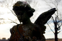 Angelic one winged sculpture