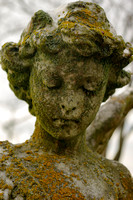 Rural cemetery angel portrait