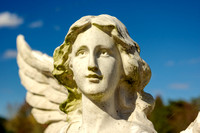 Landscepe view of angelic angel Greenbrier TN cemetery