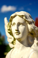 Portrait of angelic angel sculpture Greenbrier TN cemetery