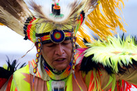 Strenuous look on Native American dancer Mount Juliet Powwow