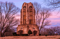 Evening Winter View of Tower Of Memories Woodlawn Memorial Cemetery Nashville TN