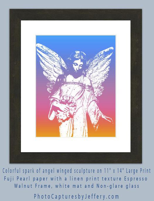 angel print framed