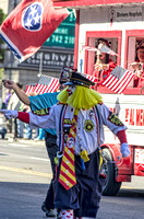 A Yellow Haired Shriner Clown At Veterans Day Parade Nashville TN