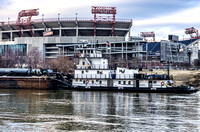 Tug Boat On The Cumberland River Nashville TN