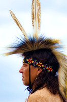 Two feathers atop Native American dancer Mount Juliet Powwow