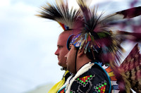 Two Native American male dancers walking the circle Mt Juliet Powwow
