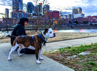 Man and Best Friend On The East Bank