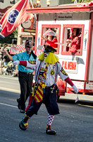 Shriner Yellow Haired Clown At Veterans Day Parade Nashville TN