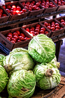 Cabbage Tomatoes at The Farmers Market