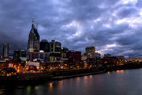 Lights A Plenty Along Skyline Of Nashville Music City TN