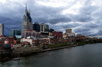 Cold Windy November View of Nashville Skyline