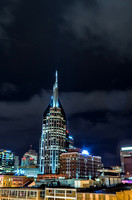 Bright Lights of The Batman Building Downtown Nashville TN