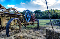 Antique Hay Baler and Bale Of Hay Scottsboro-Jordonia Antique Tractor and Car Show