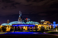 The Outside View Of The Colorful Amphitheater Cumberland Park Nashville TN