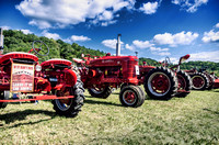Antique Tractors Lined Up Scottsboro-Jordonia Antique Tractor and Car Show