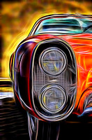 Rendering of 1955 Lincoln Indianapolis head lights