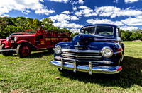 Classic Car and Classic Fire Engine