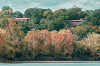 Fall foliage along Cumberland River Madison TN