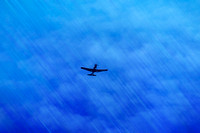 Plane heading up in flight artistic rendering