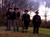 Civil War soldiers four on the hill