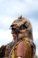Animal skin head covering dancer Mount Juliet Powwow