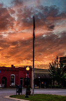 Sunset over town square Watertown TN