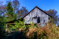 Rustic barn back view