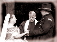 Bride And Groom Renewing Wedding Vows At Tennessee History Festival