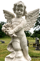 Male cherub angel Mount Olivet Cemetery