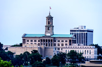 Tennessee State Capitol Building evening in Nashville TN