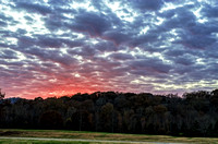 Middle Tennessee Veterans Cemetery Sunsetting Over Forest