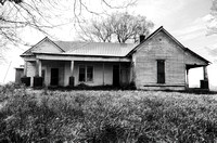 Old Black and White Farm House On The Hill Castalian Springs TN
