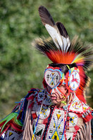 Colorful beaded male Native American dancer Tennessee State Powwow