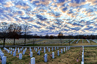 Blue Sky Clouds Over Middle Tennessee Veterans Cemetery
