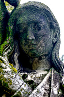 Long hair mournful looking down Mount Olivet Cemetery