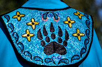 Bear claw decoration Fancy Shawl Tennessee State Powwow